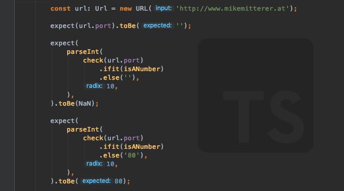 Check – TypeScript-Modul