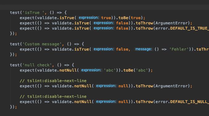 "TypeScript ""Validate"" Module"